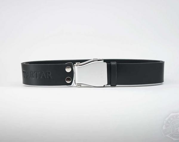 TARTAR - Schwarz mit silberner Flugzeugschnalle