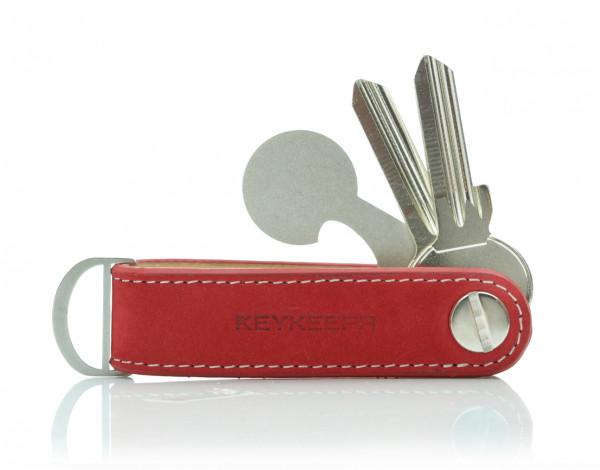 Schlüsselorganizer Leder Loop - Nubuk Red