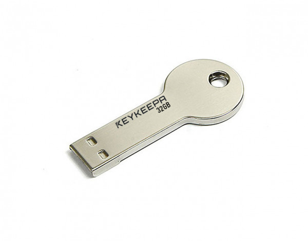 USB Memory Stick  32 GB Schlüsselform - silber