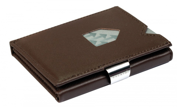 EXENTRI Braunes hochwertiges Leder (RFID BLOCK)