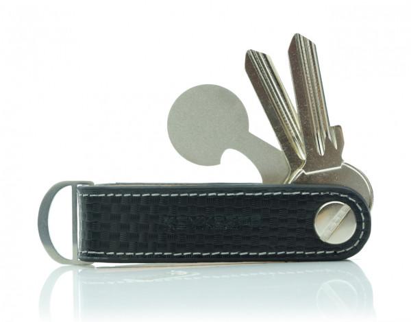 Schlüsselorganizer Leder LOOP - Cubic Carbon