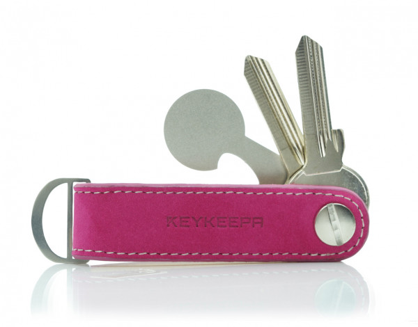 Schlüsselorganizer Leder LOOP - Nubuk Purple