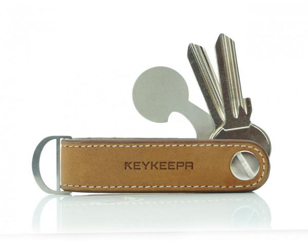 Schlüsselorganizer Leder Loop - Cappuccino Brown