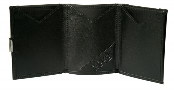 EXENTRI Schwarzes hochwertiges Leder (RFID BLOCK)