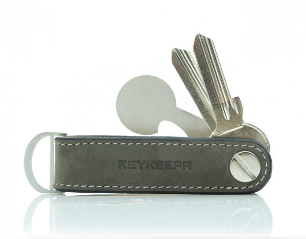 Schlüsselorganizer Leder Loop - Nubuk Grey