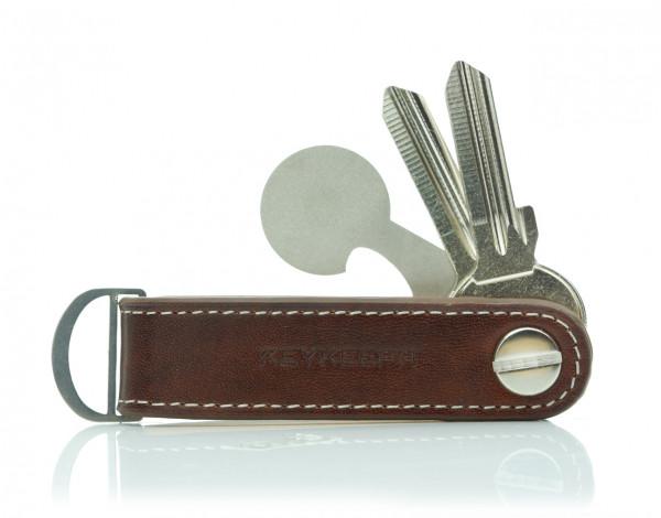 Schlüsselorganizer Leder Loop - Mocca Brown