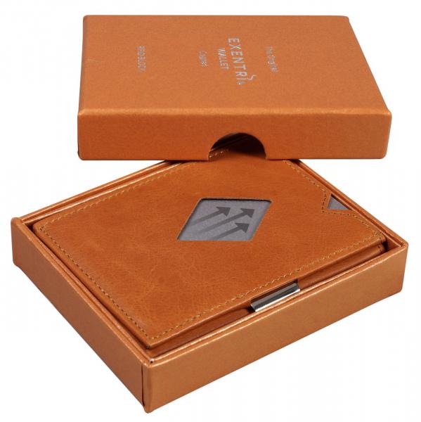 EXENTRI Cognac hochwertiges Leder (RFID BLOCK)