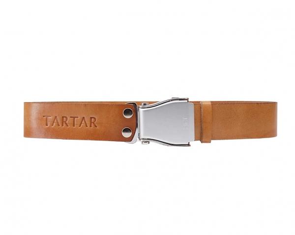 TARTAR - Cognac Braun mit silberner Flugzeugschnalle