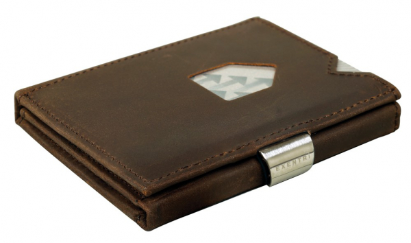 Nubuk Braun hochwertiges Leder (RFID BLOCK)